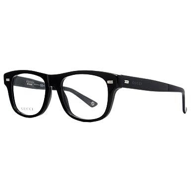 Amazon.com: Gucci Men\'s Optical Frame Acetate Black Frame ...