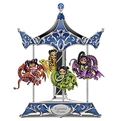 The Bradford Exchange Enchanted Dreams Carousel Dragonling Fairies by Jasmine Becket Griffith