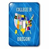 Beverly Turner College in - United States Map, College in Oregon, Heart, Car, Luggage - Light Switch Covers - single toggle switch (lsp_233549_1)