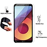 BestPriceEver Flexible Unbreakable Tempered Glass Film Screen Guard for LG Q6/Q6 Plus (Transparent)