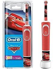 Oral-B Kids Oplaadbare Elektrische Tandenborstel Powered By Braun, 1 Handvat met Disney Pixar Cars, Voor Kinderen Vanaf 3 Jaar