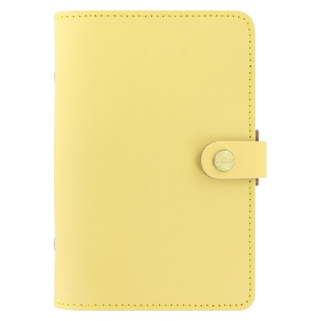 Filofax The Original Leather Organizer Agenda Calendar with DiLoro Jot Pad Refills (Personal, Lemon ND 026070)