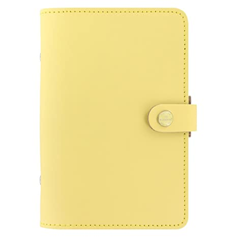 Filofax The Original Leather Organizer Agenda Calendar with DiLoro Jot Pad Refills (Personal, Lemon ND 026070)