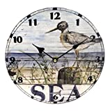 Ceramic Sea Shore Beach Inspired Wall Clock (Shore Bird)