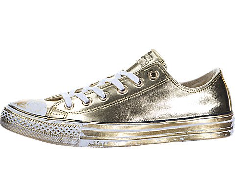 Converse Women's Taylor Metallic Ox Sneakers Chuck Paint Gold TuKJ3lF1c5