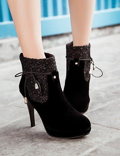 Mujer Zapatos Stiletto Negro us9 Xzz Cn41 Eu38 Casual Botas Vestido us7 De Cn38 5 Rojo Puntiagudos Uk7 Black Uk5 Eu40 Semicuero La 5 Black Tacón Moda A gEIEwqOxd