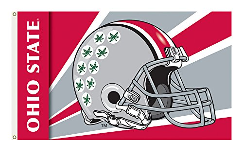 - BSI Ohio State Buckeyes Team Logo 3 Ft. X 5 Ft. Flag With Grommets - Helmet Design