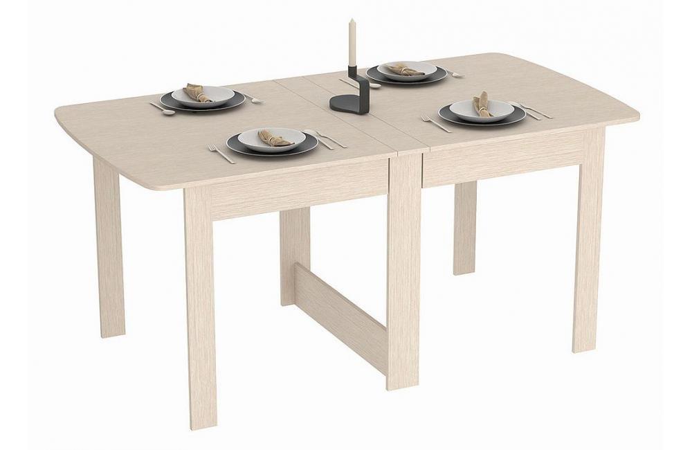 Rodnik Klappbarer Tisch - Klapptisch Eiche Eiche Eiche Weiß - Holz Hell - Raumwunder - Küchentisch - Doppelklappentisch - Esstisch - Funktionstisch - Bürotisch - Tisch klappbar - 9a4ede