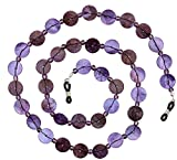 Beaded Shell Eyeglass Chain Holder Fashion Lanyard Necklace, Gypsy Purple