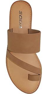 b3de2ab83 SODA Shoes Women Flip Flops Flat Summer Basic Sandals Thongs Toe Ring Joan