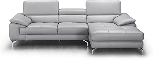 J and M Furniture Liam Premium Leather Sectional Chaise