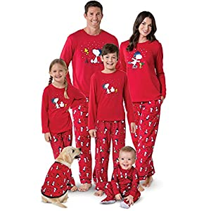 PajamaGram Family Pajamas Matching Sets – Snoopy Pajamas, Red