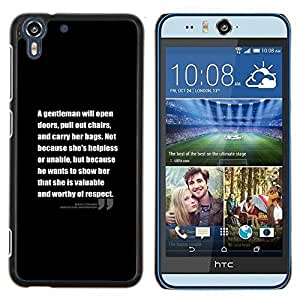Dragon Case - FOR HTC Desire EYE M910x - motivational black inspiring text quote - Caja protectora de pl??stico duro de la cubierta Dise?¡Ào Slim Fit