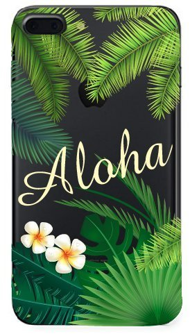 Shark Summer Collection Tropical ALOHA Hawaii Travel TPU case For (Iphone 7 Plus/Iphone 8 PLUS-Palm) Photo #5