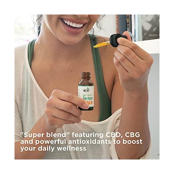 CBDfx CBD + CBG Oil Wellness Tincture – 4000mg CBD/2000mg CBG per 60ml Bottle
