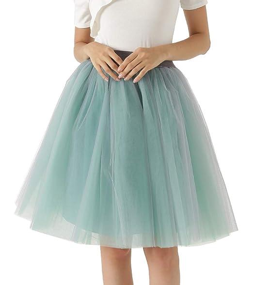 Happy Cherry - Falda para Mujeres Vestido Corta de Gasa Faldas ...
