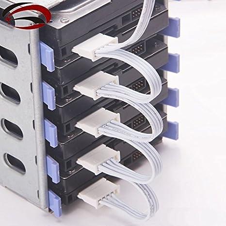 Servidor de PC 4 pines IDE Molex 1 A 5 Cable de alimentación SATA ...
