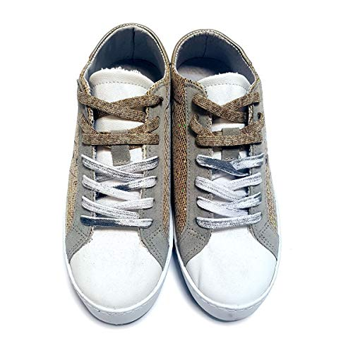 Pelle In Donna 37 Eu Italy made Sneakers Sintetico Limited Disco Gold Laminato E Edition p4Ennqgx