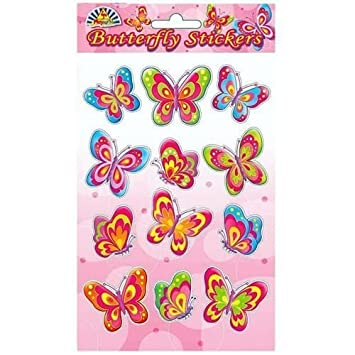 butterfly stickers girls party bag filler amazon co uk baby