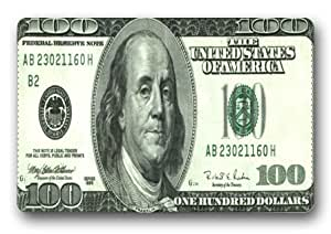 Customize 100 Dollar Bill Money Indoor/Outdoor decorative doormat