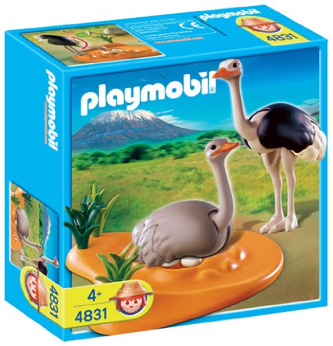 amazoncom playmobil ostrich family with nest toys games