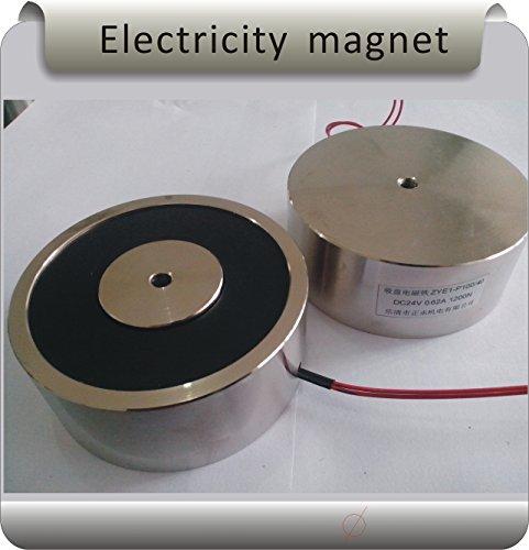 P100/40 120KG(1200N) DC12V Solenoid Electromagnet,Round Electro Holding Magnet Electro Holding Force by ZOCORFID