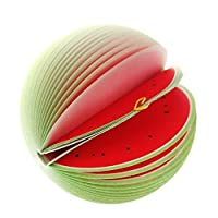 UDTEE 3PCS Cute/Creative/Practical Watermelon-shaped Fruit Sticky Note