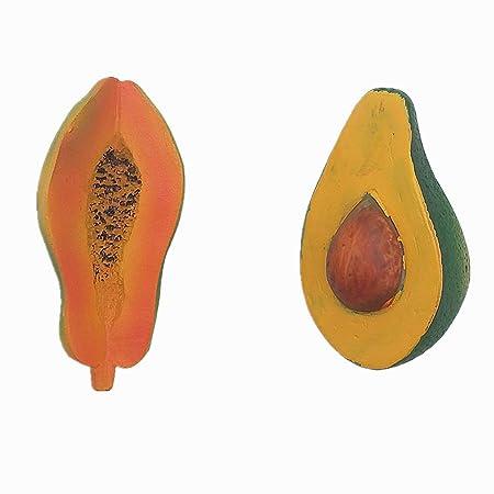 MUYU Magnet Papaya Avocado 3D imán para Nevera decoración del ...