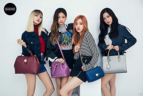 Music Group Poster - BLACKPINK (블랙핑크) JISOO, JENNIE, LISA, ROSÉ Kpop Korean Girl Group Music Poster Size 24x35 Inch J-0066