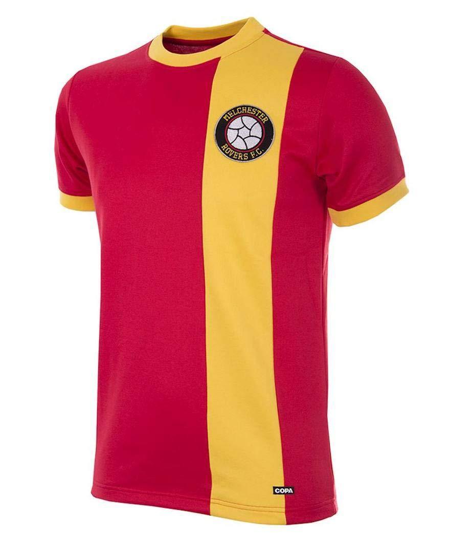 Copa Melchester Rovers Retrot Trikot 1980er rot-gelb, XL