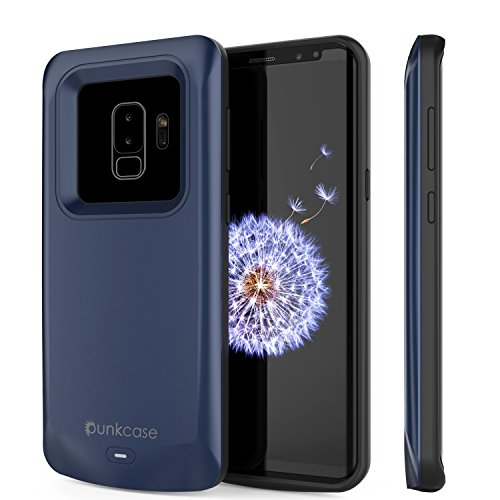 - Galaxy S9 Plus Battery Case, PunkJuice 5000mAH Fast Charging Power Bank W/Screen Protector | Integrated USB Port | IntelSwitch | Slim, Secure and Reliable | Suitable for Samsung Galaxy S9+ [Navy]