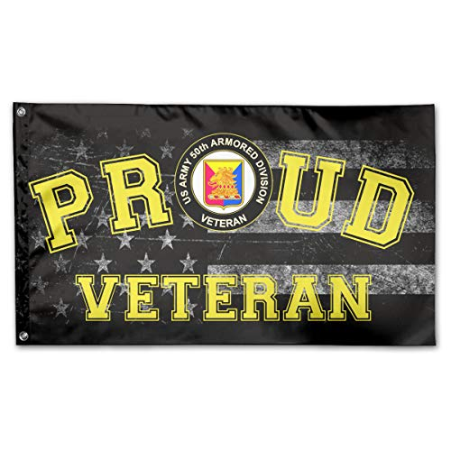 (FFFlag-er Proud US Army 50th Armor Unit Crest Veteran Flag 3x5 Foot)