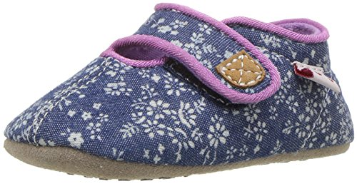 See Kai Run Girls' Cruz CRB Crib Shoe, Blue Flowers, L M US - Women Las Cruces