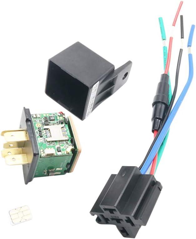 Carrfan Relé de Seguimiento del vehículo Dispositivo de rastreo GPS Localizador gsm Control Remoto Antirrobo Sistema de alimentación de Aceite de Apagado