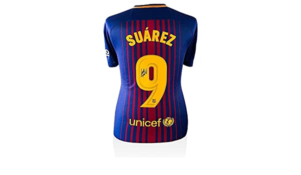 Luis Suarez Signed Jersey - Shirt 2017 18 Home Number 9 - Autographed  Soccer Jerseys at Amazon s Sports Collectibles Store ee70c46bf