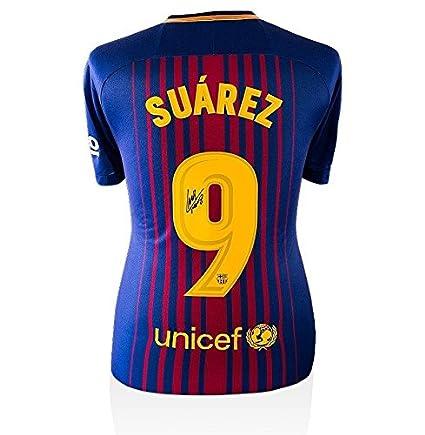 5b7c9d233c78f Luis Suarez Signed Jersey - Shirt 2017 18 Home Number 9 ...