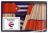 25 Box Wholesale Lot of Mini Cuba Toothpick Flags, 2500 Small Mini Cuban Flag Cupcake Toothpicks or Cocktail Picks