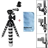 "Fantaseal® 11"" Octopus Flexible Tripod Gorillapod Mini Tripod DSLR Camera + GoPro Action Camera Tripod Outdoor Tripod Table Desk Tripod Travel Portable Tripod Stand w/ Quik Release Plate + Ball Head for Nikon Canon Pentax Sony Olympus Panasonics etc DSLR Camera / Camcorder + GoPro Hero 6 / 5/ 4/ 3+/ 3/ Session SONY HDR AS-10 15 20 30 50 100 200 AZ-1 FDR X1000VR Garmin Virb XE SJCAM SJ4000 SJ4000WIFI SJ5000 Xiaomi Yi Xiaomi Yi 4K DBPOWER QUMOX ICEFOX Akaso Apeman +etc Action Cam + Trail Camera"