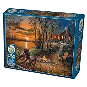 Cobblehill 85009 500 Pc Puzzle Per Caminetto Vari