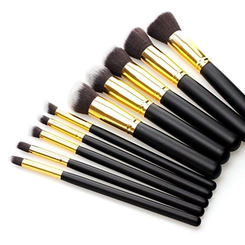 10 Pieces Professional Studio Cosmetic Foundation Blush Make up Brush Set New