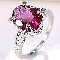 Natural Huge 2Ct Alexandrite 925 Silver Ring Women Wedding Engagement Size 6-10 (6)
