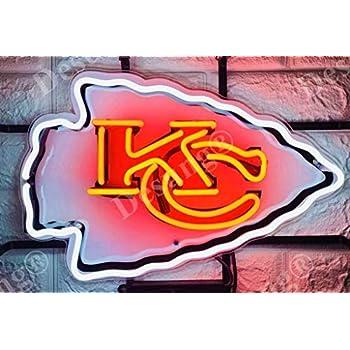 Amazoncom Kansas City Chiefs Kc Cool Led Light Sign Home Kitchen