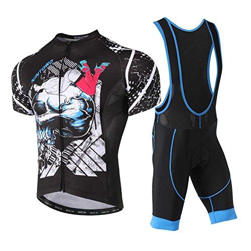 TeyxoCo 2018 Men Chic Fashion Cycling Jersey Short Sleeve Padded Jersey Bid Set XXXL - Cycling Jersey Coors