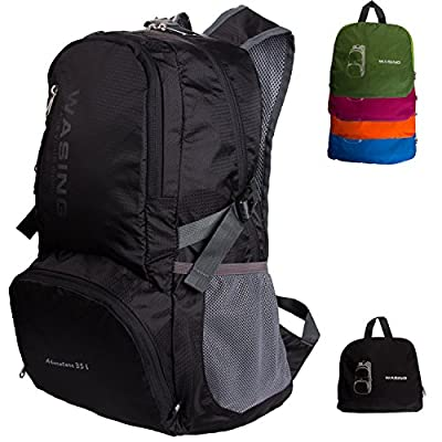 WASING 35L Ultra Lightweight Water Resistant Packable Backpack Travel Hiking Daypack,
