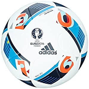 adidas Herren Ball EURO 2016 Top Replica X, White/Bright Blue/Night Indigo,...