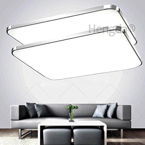 hengda® 2x 48w led deckenleuchte panel alu-matt energiespar ... - Deckenleuchte Led Wohnzimmer