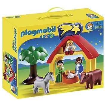 ad4dfeb8393 Playmobil 1.2.3 - Belén (6786)  Amazon.es  Juguetes y juegos
