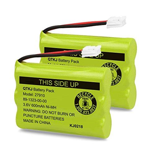 (QTKJ Cordless Phone Battery for Motorola SD-7501 MD7161 AT&T 27910 89-1323-00-00 E1112 E2801 TL72108 Vtech I6725 RadioShack 23-959 (2-Pack))