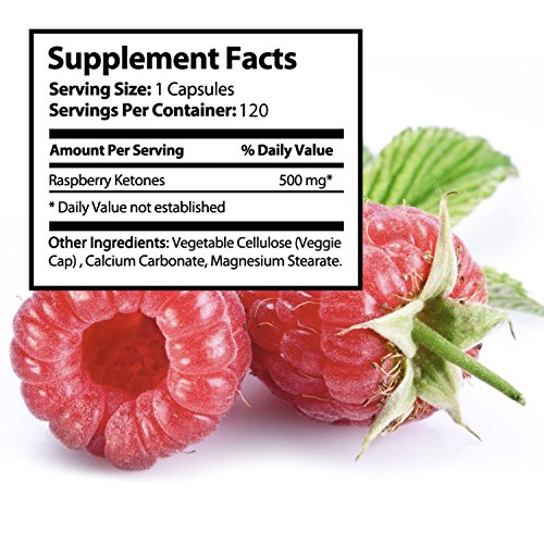 100% Pure Raspberry Ketones, Maximum Formula for Fast Weight Loss, Best Fat Burning Supplement & Natural Appetite Suppressant, Premium Quality Energy Booster, 500mg Pills, Safely Lose Weight - 120 Capsule by Nutra Rise (Image #5)