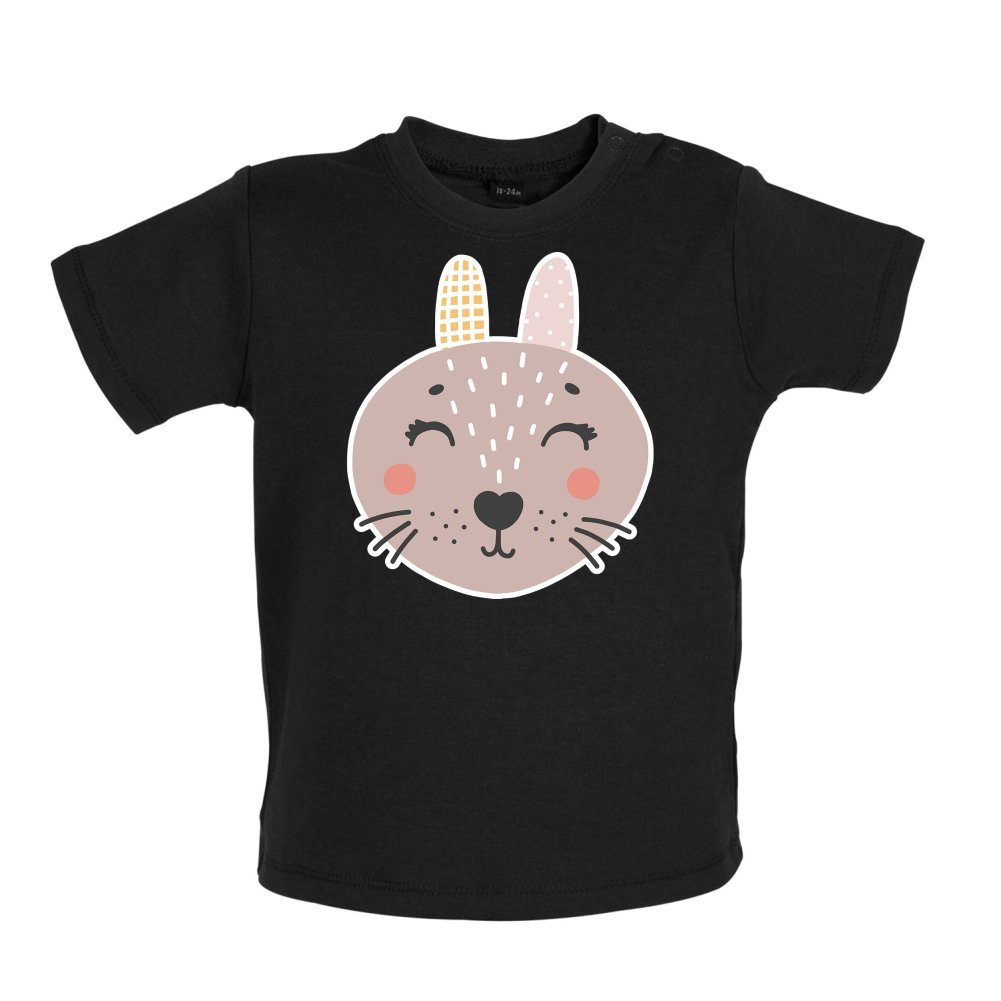 Smiley Face Mrs Rabbit Baby//Toddler T-Shirt 3-24 Months